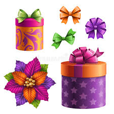 boxes with bows gift boxes and bows set of assorted clip objects