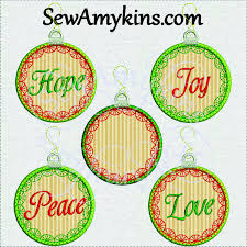 applique ornament warm wishes embroidery design set 10
