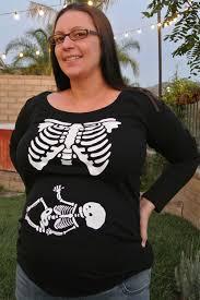 Pregnancy Halloween Costumes Skeleton by Skeleton Xray Maternity Shirt Long Sleeve Custom Halloween