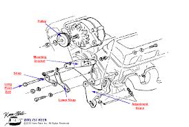 keen corvette c3 corvette big block alternator with power steering parts
