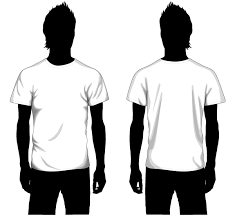 vector boys t shirt template front and back vector t shirt