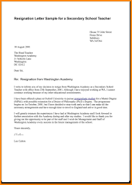business letters sample teacher resignation letter resume