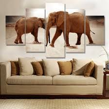 Elephant Decor For Home Discount Modern Oil Painting Elephants 2017 Modern Oil Painting