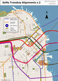 Sf Bart Map Regional Rail For The Sf Bay Area Two New Transbay Crossings