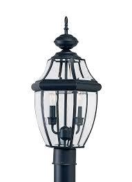 outdoor post light fixtures 8229 12 two light outdoor post lantern black
