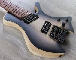 fanned fret 7 string skervesen shoggie singlecut 7 string headless guitar fanned fret