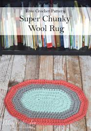 Chunky Wool Rug Crochet Super Chunky Wool Rug Whistle And Ivy