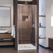 Shower Stall Doors Dreamline Flex 32 In X 32 In X 74 75 In Framed Pivot Shower