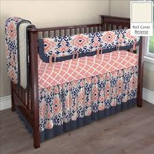 Navy And Coral Baby Bedding Custom Baby Bedding Ideas Carousel Designs