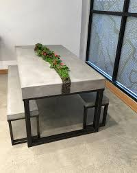 how to clean concrete table top modern element cement top coffee table cb2 throughout concrete decor
