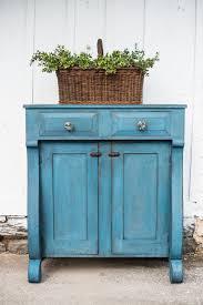 primitive jelly cupboard in flow blue miss mustard seed