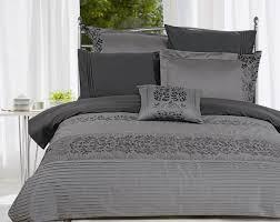 duvet cover grey cotton minimalist and elegant duvet cover grey