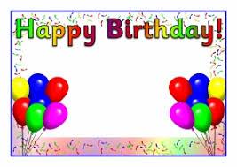 birthday template word