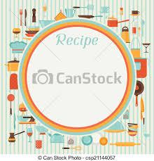 dessin recette de cuisine recette cuisine utensils fond restaurant clipart vectoriel