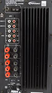home theater receiver paramax p 611 2000 watt 5 1home theater surround sound receiver