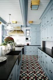 black and kitchen ideas 23 gorgeous blue kitchen cabinet ideas