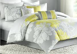 Yellow Grey And White Bedding Joan 3 Piece Yellow Floral Quilt Set Yellow And Gray Bedding Sets