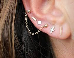 studs for ears ear piercing etsy