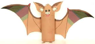 Paper Roll Crafts For Kids - bat toilet paper roll craft