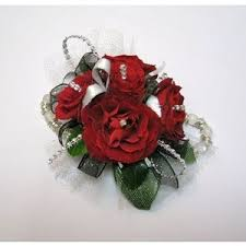 Red Rose Wrist Corsage Prom Polyvore