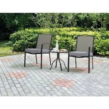 Bistro Patio Tables Bistro Patio Set 3 Piece Cushioned Small Garden Outdoor Metal