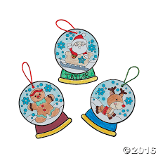color your own christmas snow globe ornaments