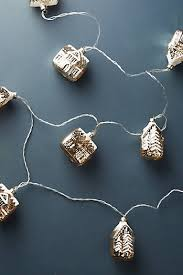 silver garland string lights for trees anthropologie