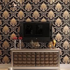 yancorp gold black luxury victorian damask embossed textured