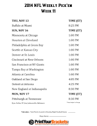 week 11 nfl football schedule nfl schedule nfl
