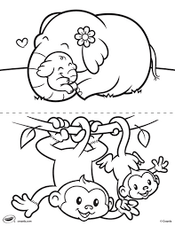 colouring pages animal families african animals coloring pages