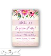 80th Birthday Invitation Cards Pink 80th Surprise Birthday Invitations Women U0027s 80th