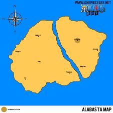 One Piece Map Information On Alabasta