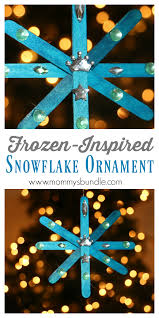 snowflake ornament inspired by frozen snowflake ornaments