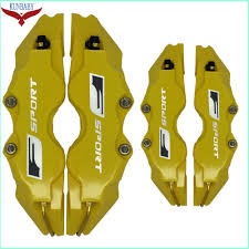 gold lexus logo kunbaby abs plastic auto style disc brake caliper covers f sport