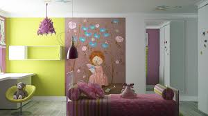 bedroom colorful girls room wall mural awesome cute bedroom