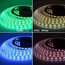 dc12v 5050 smd led strip rgbw rgbww 4 colors in 1 chip led