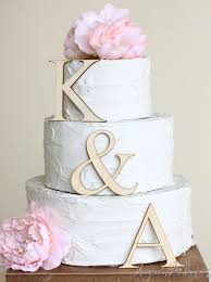 wedding cake toppers initials personalized wedding cake topper wood initials rustic chic country