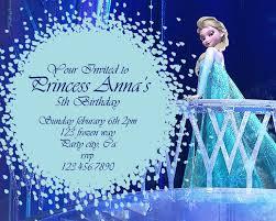 frozen photo birthday invitations images invitation design ideas