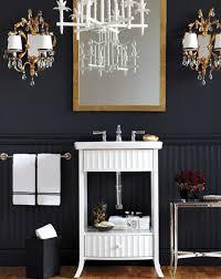 Wainscoting Bathroom Ideas Colors Black Beadboard In Bathroom Www Decorchick Com