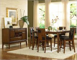 vintage dining room set rectangular cream fabric motif stacking chairs formal dining room