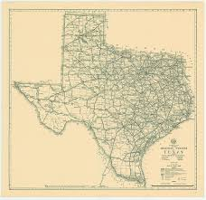 Texas State Art And Design Vintage Map Of Texas 1933 Photograph By Georgia Fowler