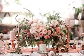 botanical baby shower with rose gold ruffled