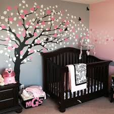 Cherry Blossom Wall Decal For Nursery Brown Cherry Blossom Tree For Nursery Decor Vinyl Wall Decal For