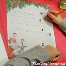 east coast mommy letter writing to santa party