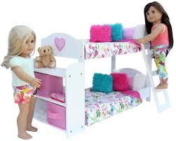 Barbie Bunk Beds American 20 Piece Bedroom Set For 18 Inch Doll Ebay