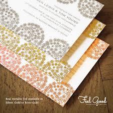 Gold Foil Wedding Invitations Confetti Swirl Foil Invitation Feel Good Wedding Invitations