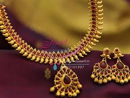 red stones gold necklace images Nl1932 gold plated mango design red color stones traditional JPG