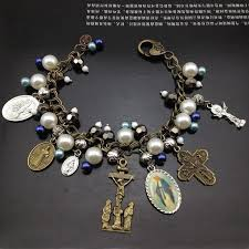 antique charm bracelet charms images Catholic religious vintage antique bronze plated st benedict jpg