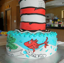 one fish two fish red fish new fish babyshower cake