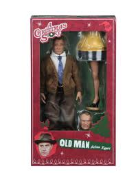 packaging photos of the a christmas story mego style figures by